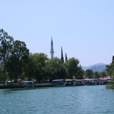 dalyan shore and mosque